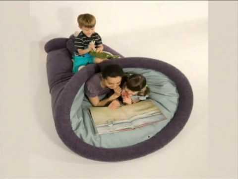 A grande ideia almofada gigante vira cama colch o for Sofa que vira beliche