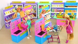 I ️ 2 Shop Barbie Deluxe Supermarket Morning Ready for School boneka Barbie Supermercado