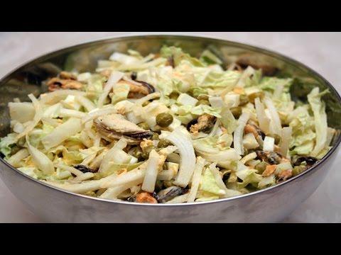 Рецепты салатов с мидиями 77 вариантов с фото