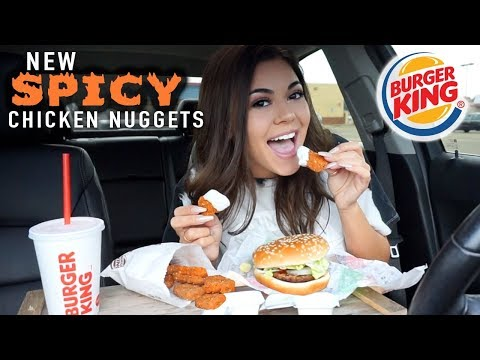 Trying NEW SPICY CHICKEN NUGGETS from Burger King!