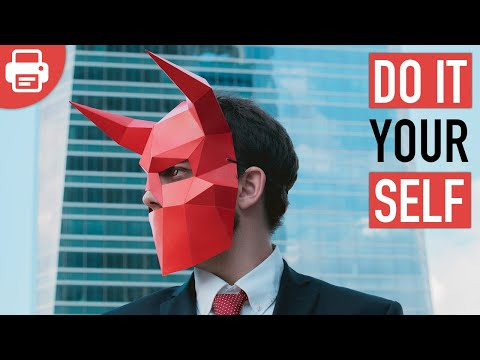 HOW TO MAKE A DEVIL / DEMON MASK | DIY