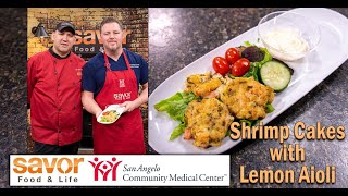 Shrimp Cakes With Lemon Aioli