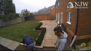 Contemporary Garden Makeover Timelapse (Phase 1, Main construction only) - NJW Landscape Solutions