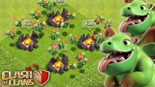 "Clash of Clans-""Beasting With Baby Dragons!""-CoC Strategies With Baby Dragons"