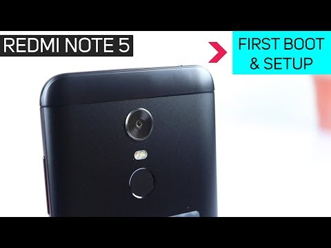 Redmi Note 5 First Boot And Setup