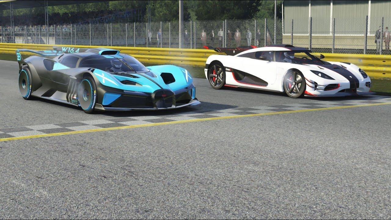 Bugatti Bolide vs Koenigsegg Agera R at Monza Full Course