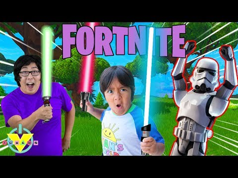 FORTNITE STAR WARS EVENT WITH RYAN ! Let's Play Fortnite Battle Royale With Ryan's Daddy