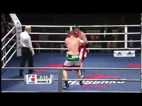 Christian Demaj (Red Gloves) Vs Krzystof Kowalski (White Gloves) WSB 91kg 21.02.2014 Poland