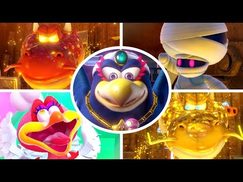 Captain Toad Treasure Tracker - All Bosses + Cutscenes (No Damage)