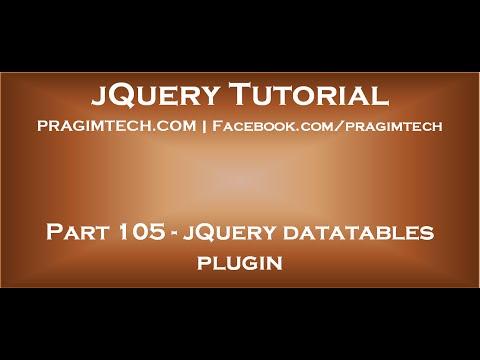 jquery datatables plugin youtube rh youtube com