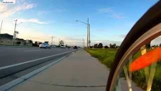 ∴ride At Sunrise∴ Sept 2013 4.3 Mile Virtual Bicycle Ride - 3x Timelapse Cape Coral Fl
