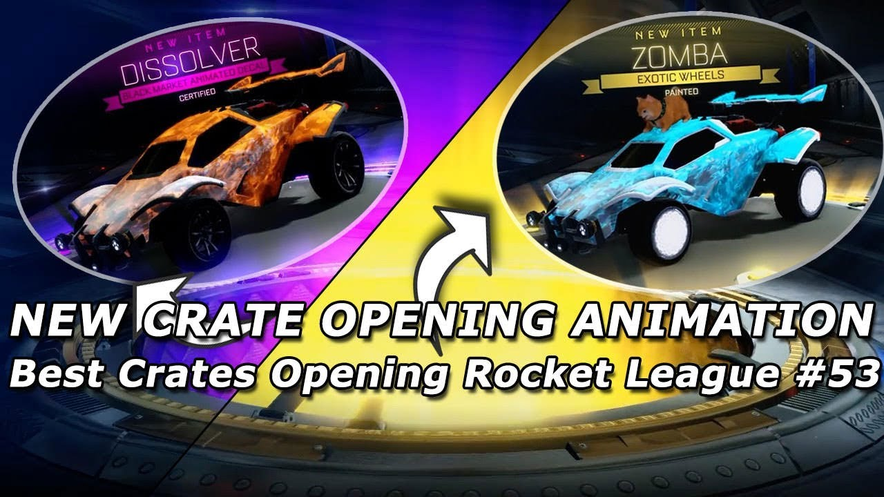 Best Crates Opening Rocket League #53 ( New Crate Opening Animation)