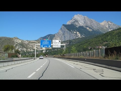 France: A43 Modane - Chambéry (French Alps)
