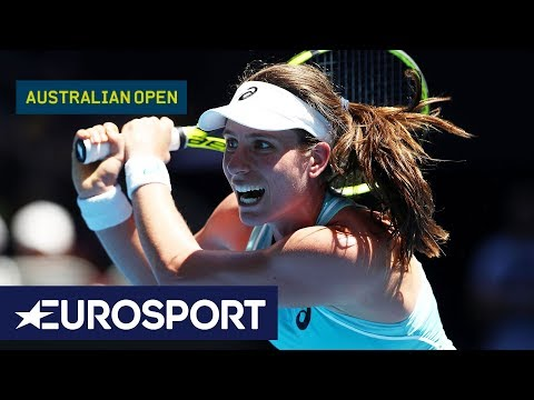 Johanna Konta v Madison Brengle Highlights | Australian Open 2018 Round 1 | Eurosport