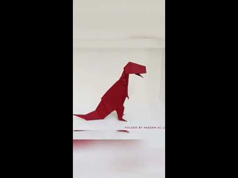 Origami T-Rex 🦖 Time-Lapse