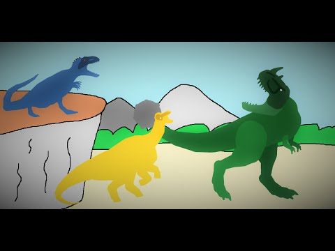 Rhinorex Vs Corythosaurus Vs Eocarcharia