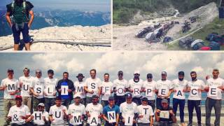 MKA News - British Muslim hikers carry the message of Humanity & Peace to Zugspitze top of Germany