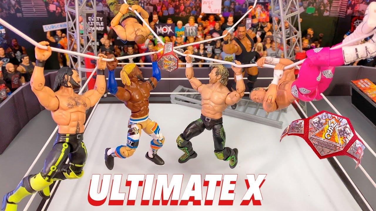 ULTIMATE X HARDCORE CHAMPIONSHIP FIGURE MATCH! ROLLINS VS OMEGA VS KOFI VS LEE VS ZIGGLER VS ZAYN!