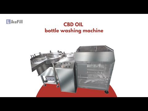 [Like Fill ] Automatic amber glass dropper bottle water rinser,  vials cleaning machine