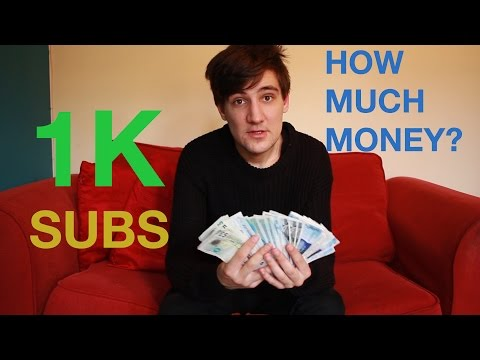 HOW MUCH MONEY I EARN WITH 1000 SUBSCRIBERS?