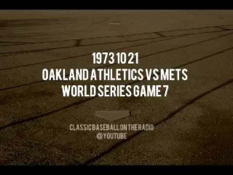 1973 10 21 World Series Game 7 Oakland Athletics vs Mets (Jim Simpson and Bob Murphy)