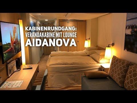 AIDAnova: Verandakabine Komfort mit Lounge - Kabinenrundgang