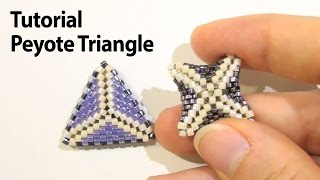 BeadsFriends: Basic Peyote Tutorial - How to make a triangle using Peyote Stitch