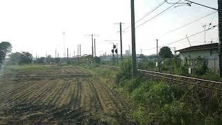115系(伯備線普通列車2B)828M  二本木踏切通過