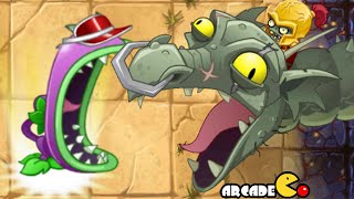 Plants Vs Zombies 2: All Worlds Zomboss Battle New Plant Chomper Vs Zombot Dark Dragon