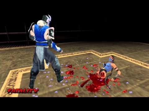 MK Unchained Ryona: Sub-Zero's Torso Stomp Fatality on Kitana