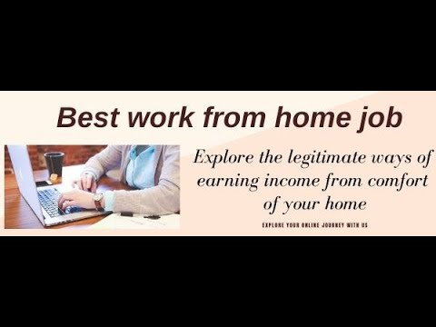 Work from home jobs |legitimate work from home jobs