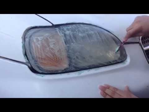 How to clean headlights using toothpaste