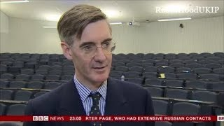 Jacob Rees Mogg talks about standing up to antifa