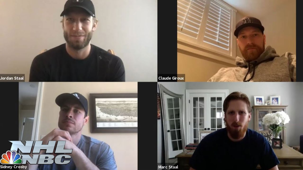 NHL stars Sidney Crosby, Claude Giroux, Staal brothers talk quarantine, season and more | NBC Sports