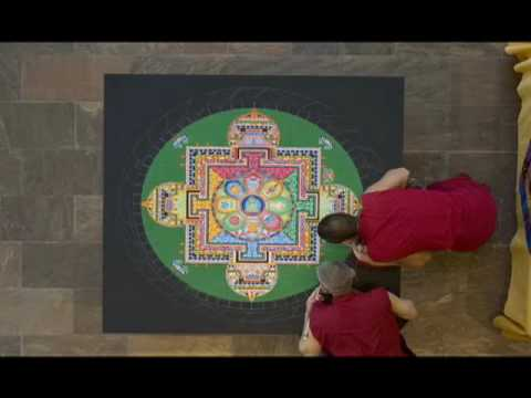 Time Lapse Making Of A Mandala: The Crow Collection Of