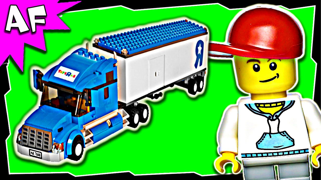 Lego City Toys R Us Truck 7848 Stop Motion Build Review Youtube