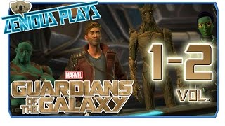 The Guardians of the Galaxy 1-2 - Death of a Star Lord (Full Game Play Through)
