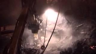 Furnace Demolition with a Brokk 330