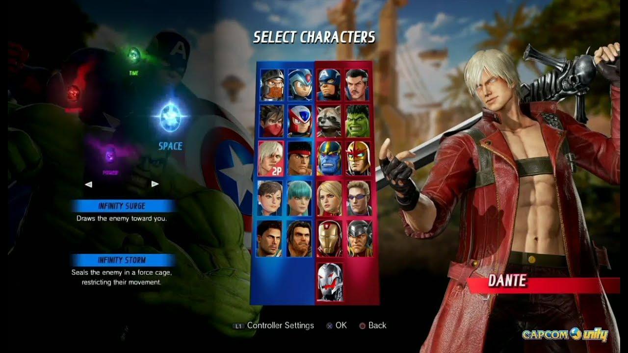 Image result for marvel vs capcom infinite roster