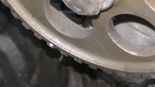 видео неправильная установка ремня грм