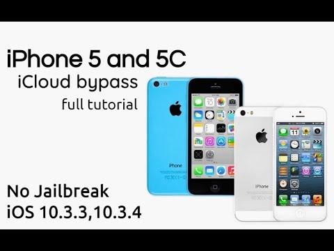 IPhone 5 5C ICloud Bypass IOS 10.3.3/10.3.4 Full Tutorial