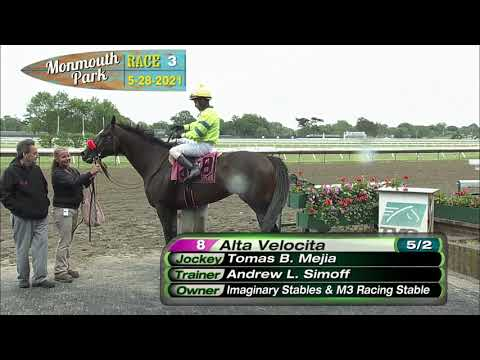 video thumbnail for MONMOUTH PARK 05-28-21 RACE 3