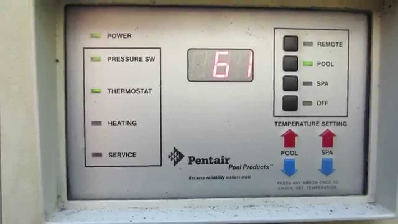 pentair minimax nt pool heater does not fire error e05 youtube rh youtube com Pentair Heater Parts Pentair Pool Heaters