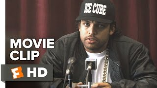 Straight Outta Compton Movie CLIP - Press Conference (2015) - Jason Mitchell, Corey Hawkins Movie HD