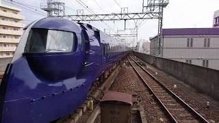 南海ラピート関西空港行き50000系 岸和田駅に到着