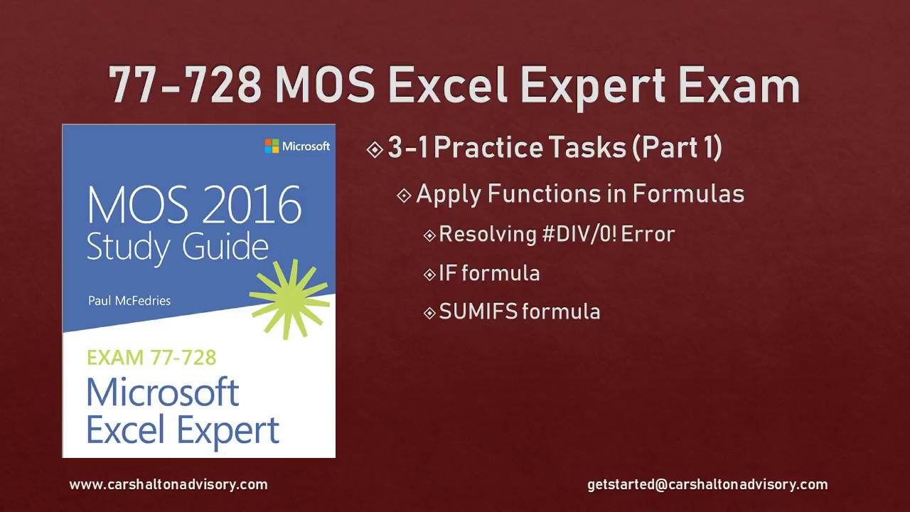Obj 3 1 12 Apply Functions In Formulas 77 728 Mos Excel 2016