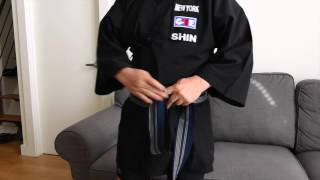 How to Tie a Kaku Obi for Iaido