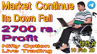 nifty option and future live intraday trading in zerodha 10 feb 2020