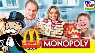 McDonalds Monopoly - Gehen wir über LOS? TipTapTube😁Familienkanal 👨👩👦👦