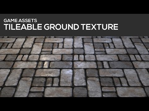 GAME ASSET TUTORIAL - Tileable ground texture - Part 1 / 2